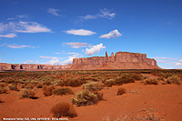 Monument Valley - Three Sisters and Mitchell Mesa